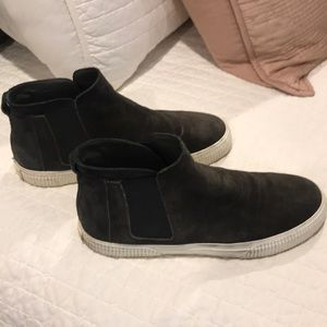 Women's grey ish black suede Vince high top
